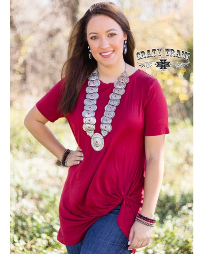 Lets Get Knotty Shirt in Red by Crazy Train