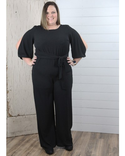 Plus Jumper in Black by Spin USA