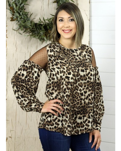 Mixed Fabric Top in Chocolate Mix