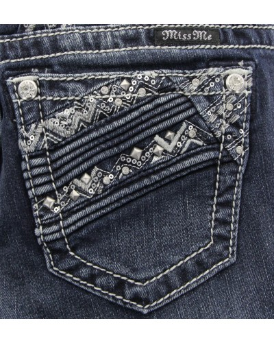 Straight Jean in DK 409 by Miss Me