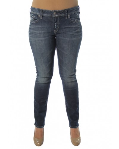 Elyse Straight in Indigo by Silver Jeans Company