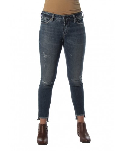 Calley Ankle Skinny in Indigo by Silver Jeans