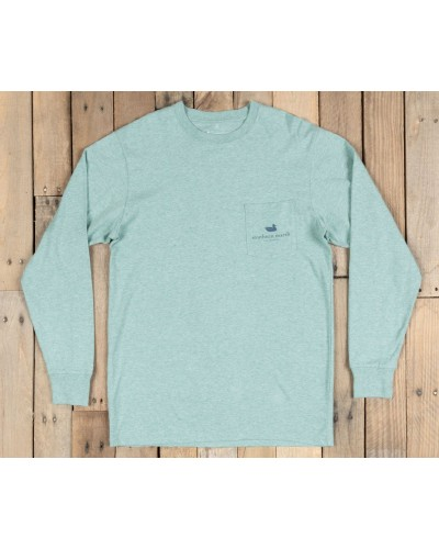 Mountain Weekend Tee in Washed Moss Blue by Southern Marsh
