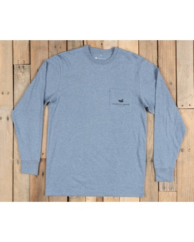 Mountain Weekend Tee in Washed Slate by Southern Marsh