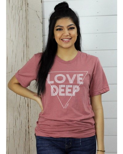 S/S Love Deep Tee in Pink by M.E. & You