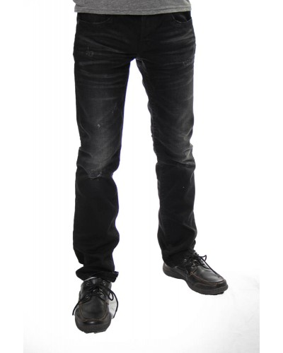 Riley Straight Leg Jean in Miner Black by MEK Denim