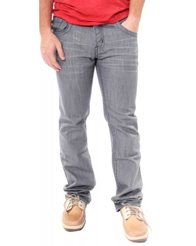 Mens Finn Straight Jeans in Grey/Black by Mek Denim