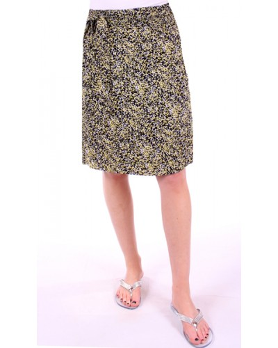 Side Smocked Skirt in Yellow by Down East