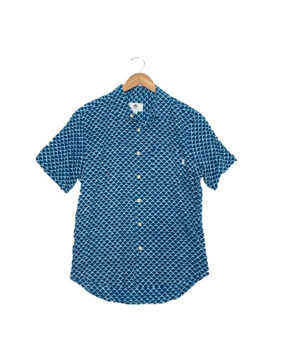 Metis Button Down in Indigo/White by Fayettechill
