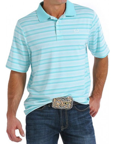 S/S Polo Shirt in Light Blue by Cinch