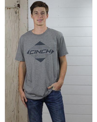 S/S Tee in Heather Charcoal by Cinch