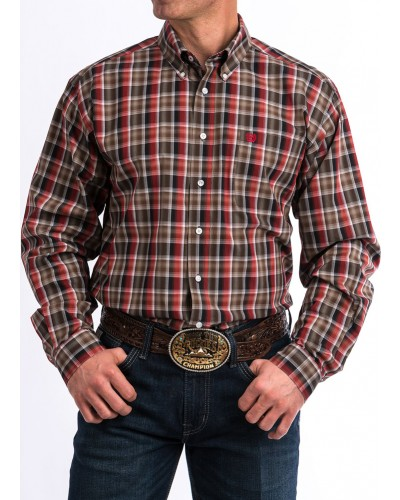 Men's L/S Plaid Shirt by Cinch