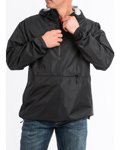 1/4 Zip Windbreaker in Black by Cinch
