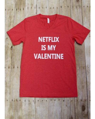 Netflix is My Valentine Tee in Red by Truelove