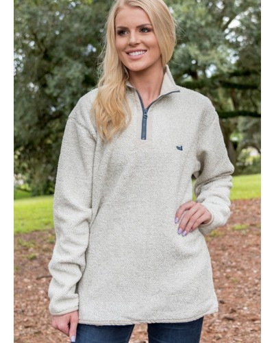 Highland Alpaca Pullover in White by Southern Marsh