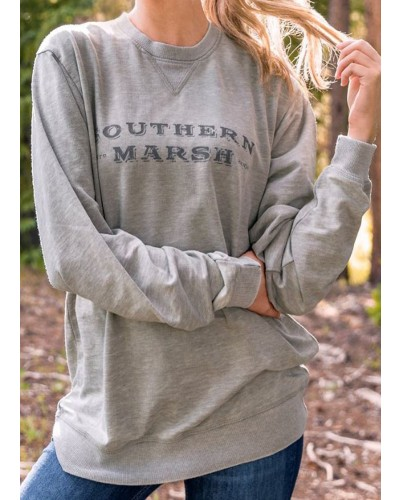 Seawash Rally Sweatshirt in Burnt Taupe by Southern Marsh