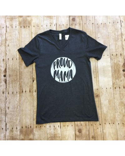 Pround Mama Soccer Tee in Grey by Costa Threads