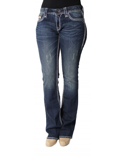 Boot Cut Jeans in Royal B200 by Rock Revival