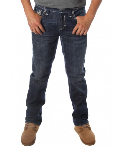 Straight Back Pocket Blowout Jeans by Rock Revival