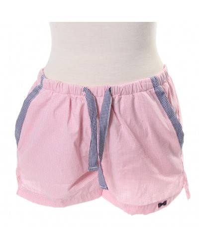 Lounge Shorts in Pink with Navy Trim by Fraternity Collection
