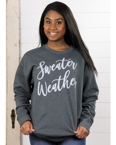 Sweater Weather Pullover in Dark Grey by Ady Belle