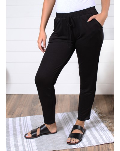Slim Jogger Ankle Pants in Black4180 by Tresics