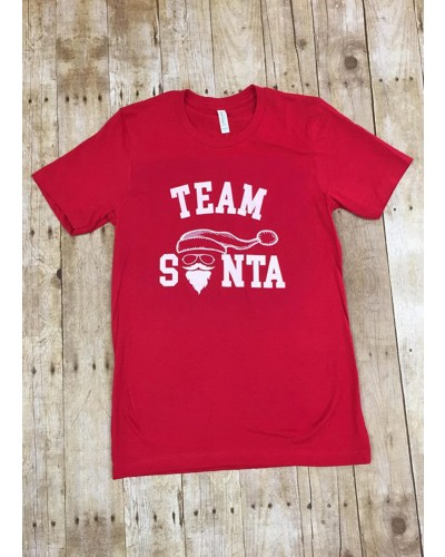 S/S Team Santa in Red Tee by Costa Threads