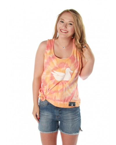 Whitling Tie Dye Tank -Target in Coral & Melon by Southern Marsh