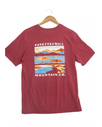 Mountain View Tee in Adzuki Red by Fayettechill