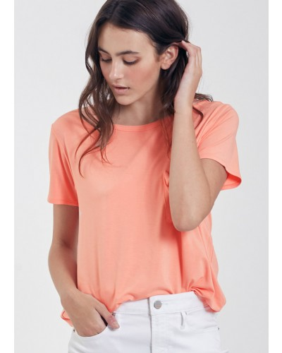 S/S Sam Crew Neck Tee Shirt in Melon by Another Love