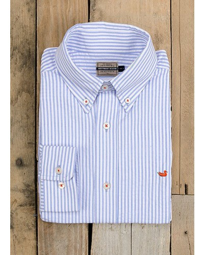 Everette Stripe Long Sleeve in Light Blue by Southern Marsh