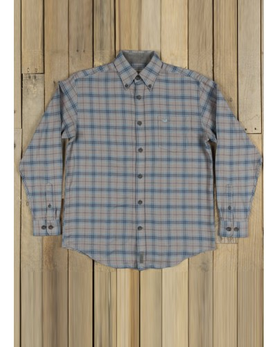 Hindman Flannel in Tan/Sage by Southern Marsh