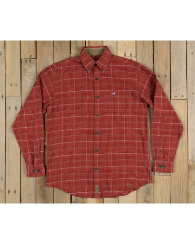 Madison Houndstooth Flannel in Maroon/Bisque by Southern Marsh