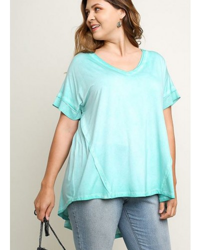 Plus Size Tunic in Aqua by Umgee