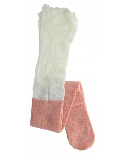 Two-Toned Knee High Sock in Apricot by Peek A Boot