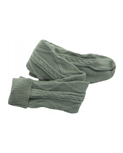 Cozette Cable Knit Sock in Light Gray by Peek A Boot