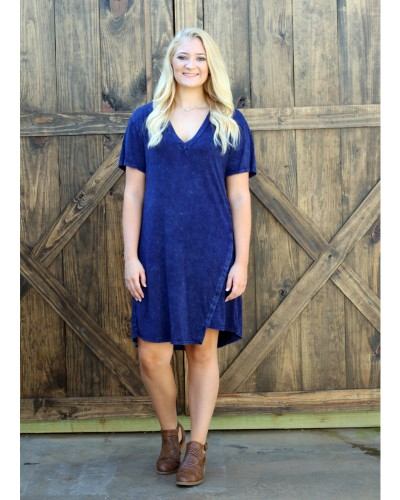 Tanta Mineral Dress in Navy Mineral by Wanderlux