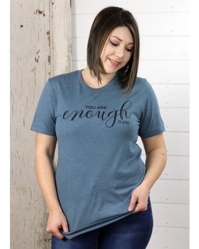 You Are Tee in Blue by Fox & Owl