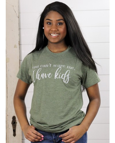 S/S You Can't Scare Me Tee in Olive by Ady Belle