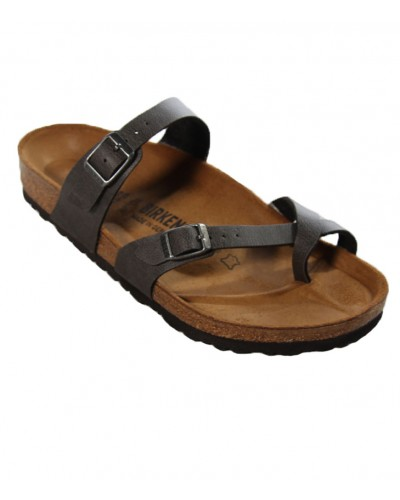 Mayari in Anthracite Pull Up Birko-Flor Regular Width by Birkenstock
