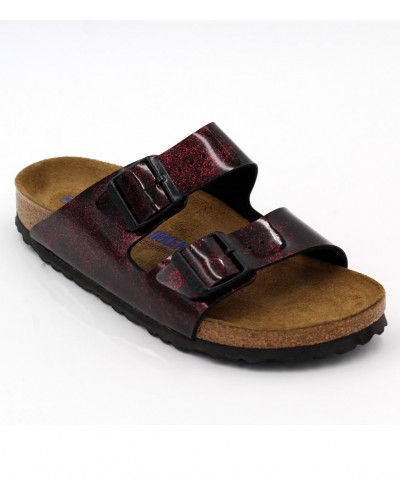 Arizona Soft Footbed in Iride Red Narrow Width by Birkenstock