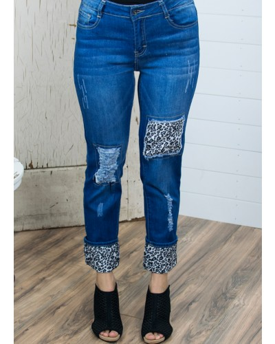 Black Leopard Jeans by L&B