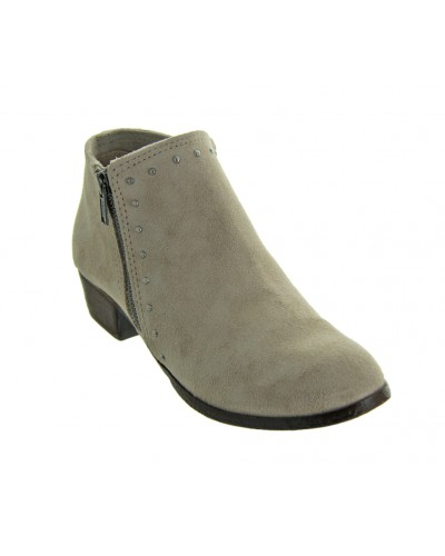 Brie Boot in Stone by Minetonka Moccasin Co.