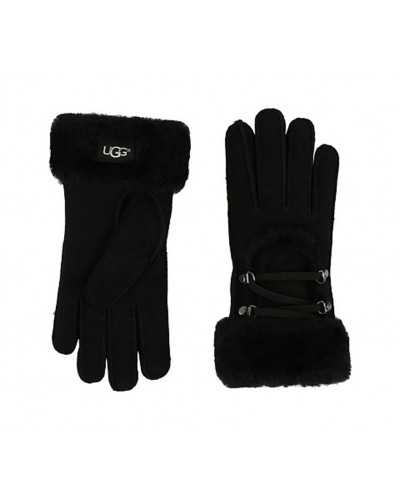 Lace Up Glove in Black by Ugg