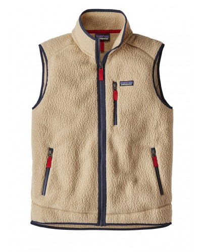 Retro Pile Vest in Khaki by Patagonia