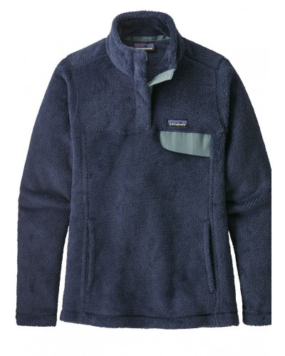 Women's Re-Tool Snap-T Pull Over in Stone Blue/Classic Navy Dye X by Patagonia