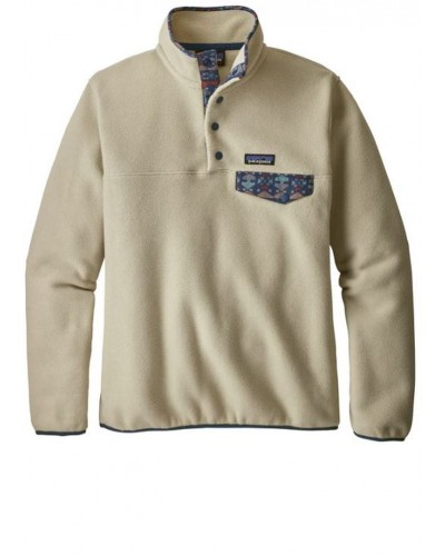 LW Synch Snap T Pullover in Pelican/Stone Blue by Patagonia
