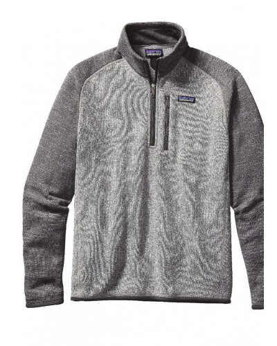 Men's 1/4 Zip Better Sweater in Nickel/Forge Grey by Patatgonia