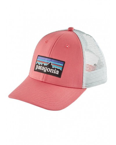P-6 Logo LoPro Trucker Hat in Sticker Pink by Patagonia