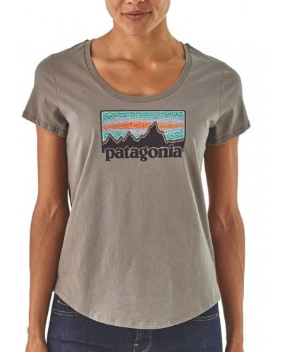 Women's Solar Rays 73 Organic Scoop Tee in Feather Grey by Patagonia